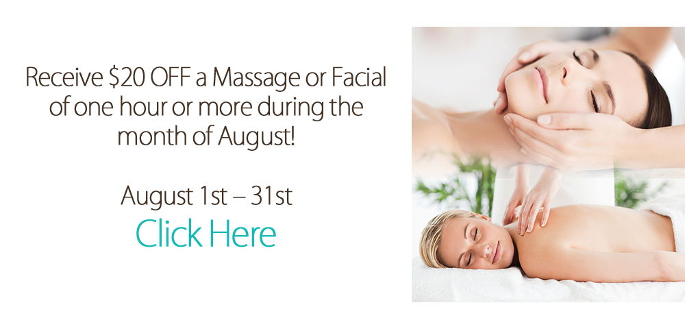 Web Banner 20 off massage facial