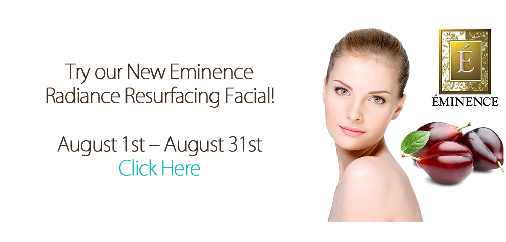 Website Banner Eminence radiance resurfacing facial