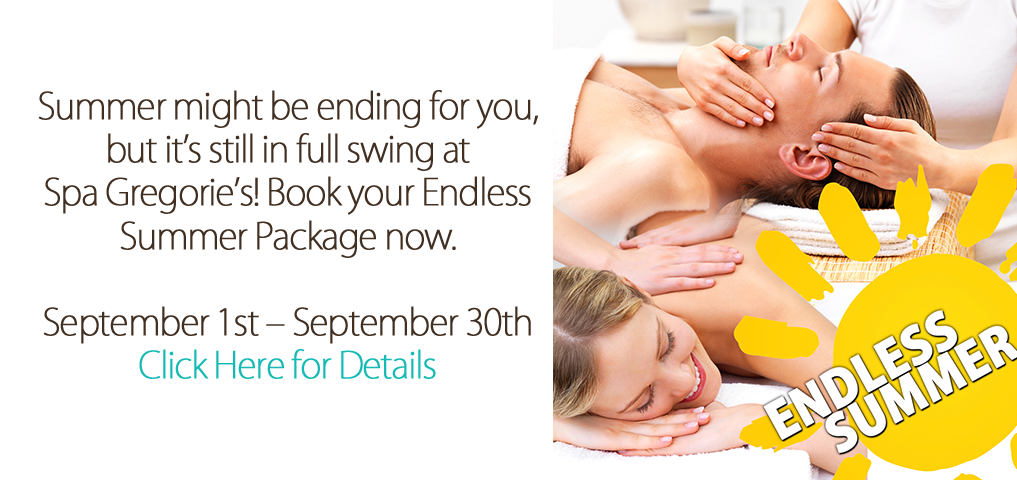 Try our Endless Summer Package with a picture of someone getting a massage and a facial