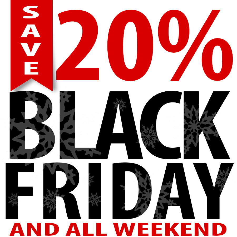 Save 20% on Black Friday!