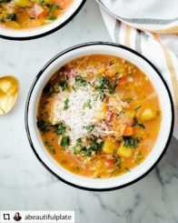 Picture of vegetable soup
